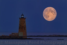 Moonrise Over Whaleback Lighthouse