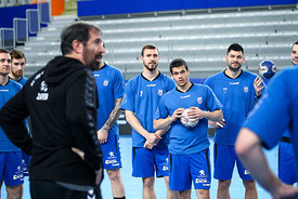 players of PPD Zagreb during the Final Tournament - Final Four - SEHA - Gazprom league, training, Varazdin, Croatia, 31.03.2016, ..Mandatory Credit ©SEHA/Zsolt Melczer..