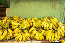 Bananas for sale at a local market in Havana, Cuba