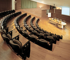 Conference hall, Teuco headquarters. Recanate.