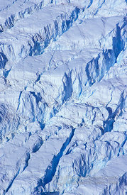 Aerial View Ice-Plateau Cravasses