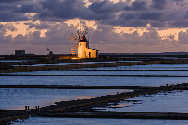 Decomissioned Windmill at Trapani Salt Flats