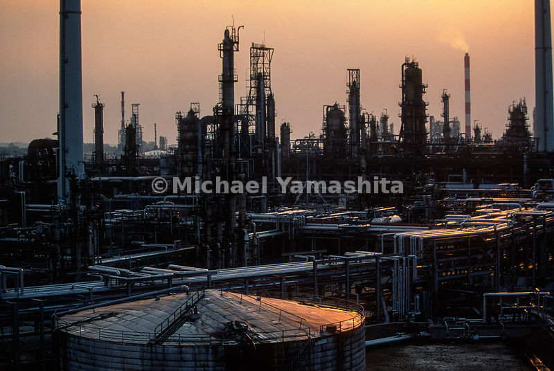 Shell oil refinery. Shell's biggest world wide and largest in South East Asia. Oil comes from Persian Gulf refined and then sold locally..Pulau Ular & Pular Bukum, Singapore