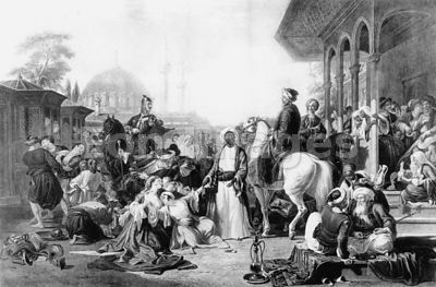 Slave market in Constantinople