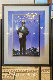 Coast Starlight Poster in the King Street Station in Seattle