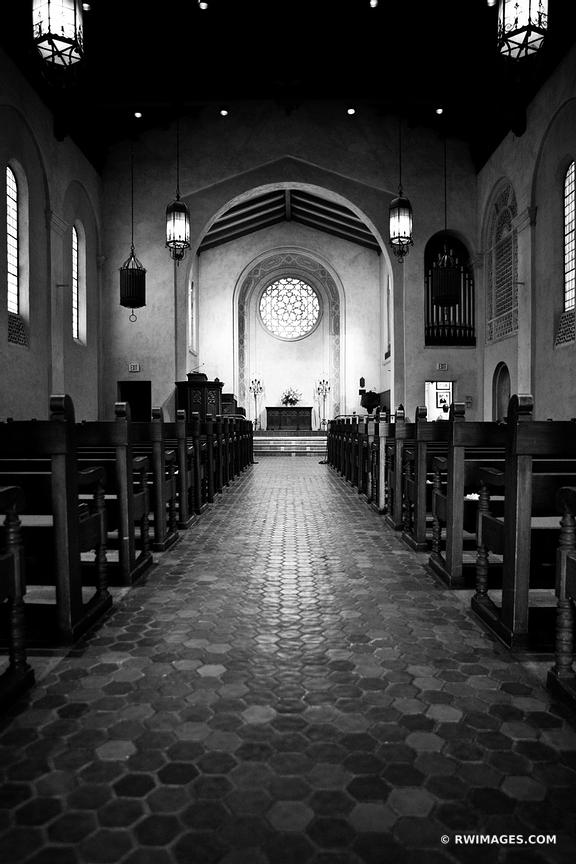 SANTA BARBARA UNITARIAN SOCIETY CHURCH BLACK AND WHITE VERTICAL