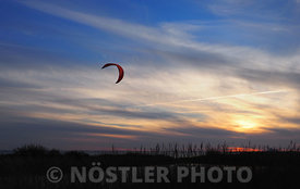 The lonely kite surfer