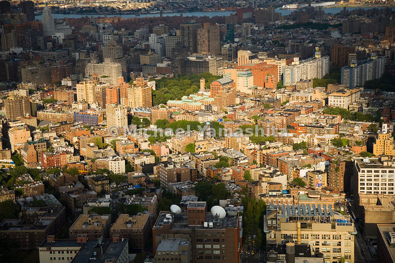 New York University buildings and dorms dominate much of Greenwich Village surrounding Washington Square.  Manhattan, New York City.