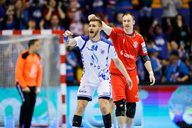 Domagoj Pavlovic during the Final Tournament - Final Four - SEHA - Gazprom league, Bronze Medal Match Meshkov Brest - PPD Zagreb, Belarus, 09.04.2017, Mandatory Credit ©SEHA/ Stanko Gruden..