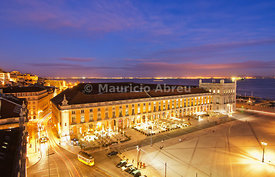 Terreiro do Paço at twilight. One of the centers of the historical city. Lisbon, Portugal