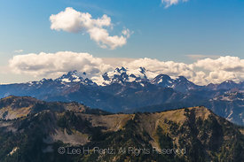 Mount Olympus Viewed from Grand Pass Trail in Olympic National Park