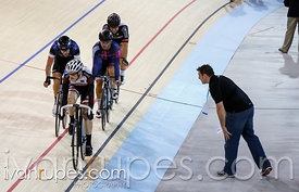 Men's omnium qualification points race. 2014 Canadian Track Championships, January 4, 2015