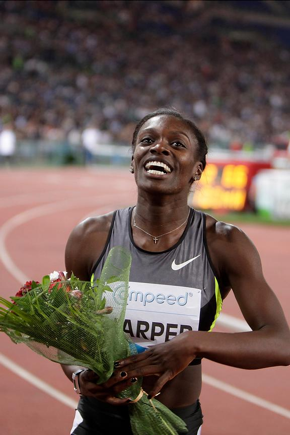 2012 Rome Golden Gala - Rome Diamond League 100 Metres Hurdles - W. Dawn Harper USA 12.66 sec. wins the race.