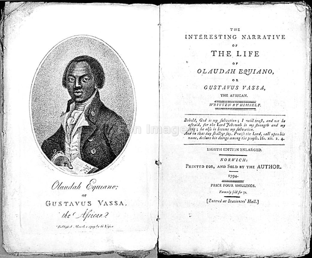 Title page from The Interesting Narrative of the Life of Olaudah Equiano