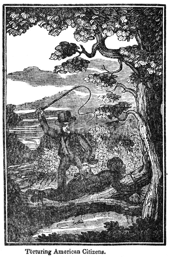 Print depicting slave being whipped