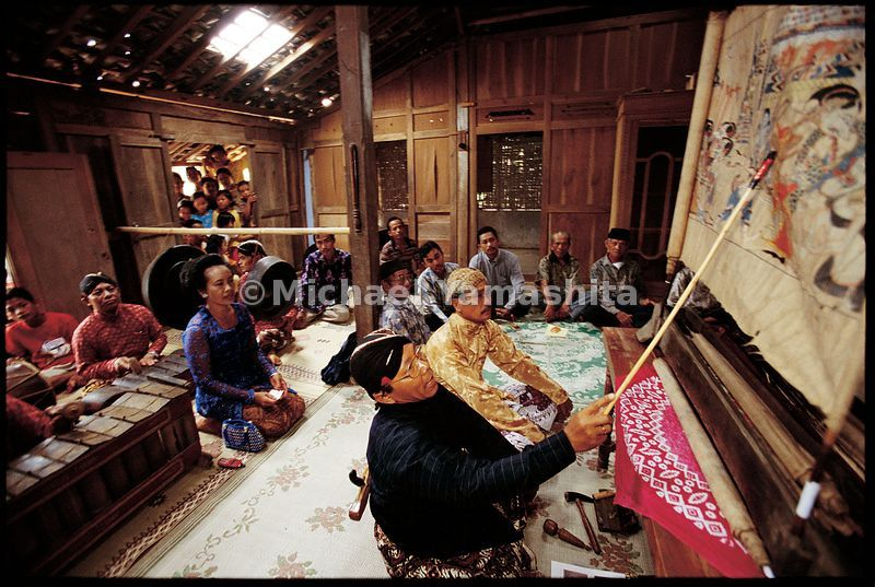 Wayang Beber storytelling is a traditional art form in Indonesia.