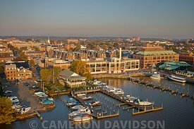 Aerial photograph of the Torpedo Factory in Old Town Alexandria, Virginia