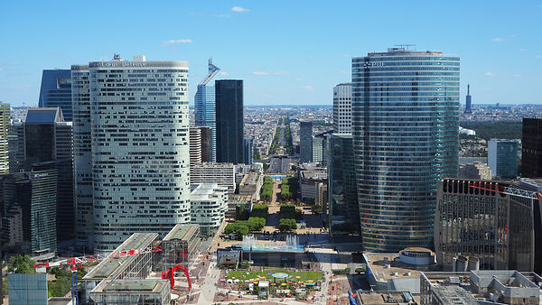 The view from the La Grande Arche de la Défense