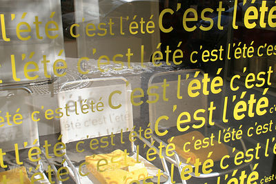 C'est Ete, shop window, Paris, France