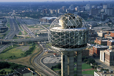 Dallas Aerial Photography - Reunion Tower