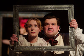 (l to r) Kim Gerard & Steven McNicoll in The Royal Lyceum's 'Vanity Fair' directed by Tony Cownie
