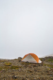 Backpacker's Tent in Camp Kiser along the Ptarmigan Ridge Trail