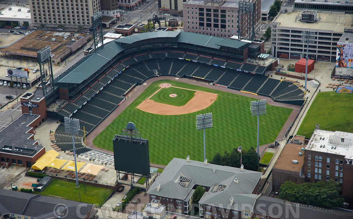 Aerial Stock Aerial Photograph Of Autozone Park A