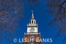 Independence Hall tower in Philadelphia