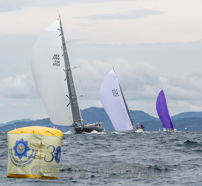 Shahtoosh leads the Premier Cruisers. Phuket King's Cup 2016.