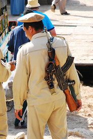 Guard With Egyptian Maadi AK-47 Variant