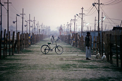 India - Allahabad - a bicycle at the Ardh Kumbh Mela 1995