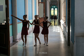 Students at the Cuban National Ballet School in Havana, Cuba.  There are approximately 3,000 students and it is the biggest ballet school in the world.