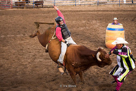 Bull riding at Bryce Canyon Country Rodeo in Utah.