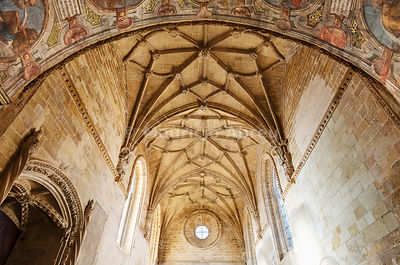 Dome of the Chapter House. Convent of Christ, a UNESCO World Heritage Site. Tomar, Portugal