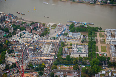 London. Aerial view of the Cutty Sark
