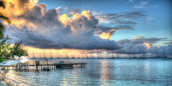Sunrise over Bender's Bay from Neptune's Treasure, Anegada, BVI