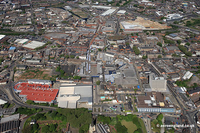 aerial photograph of  Walsall West Midlands ,  England UK