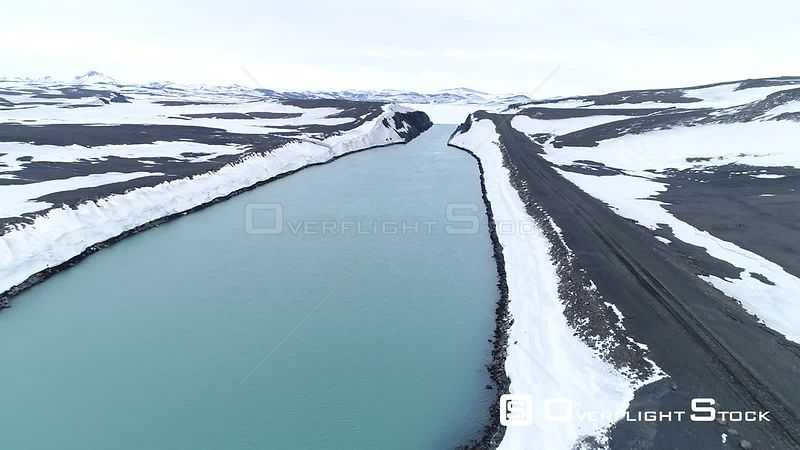 Drone Video Isolated Road Iceland