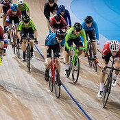 Junior Men Points Race. Ontario Track Championships, March 4, 2018