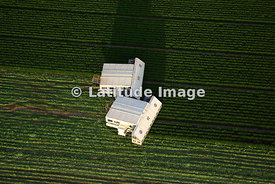 Two Crop Picking Machines at Rest in Field in Aguilas, Almeria