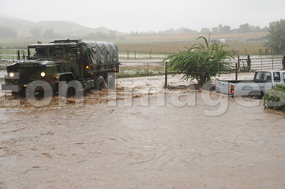 Colorado National Guardsmen respond to floods in Boulder County on Sep. 12, 2013