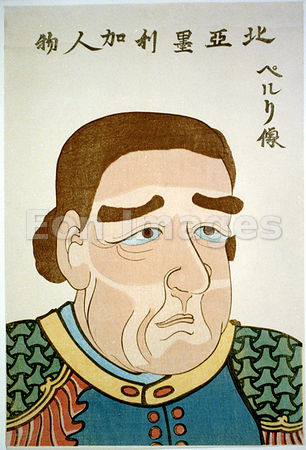 Japanese print of Matthew C. Perry