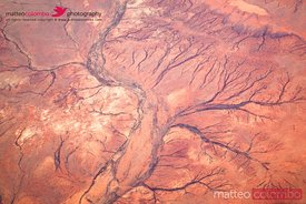Aerial view of red outback desert, Australia