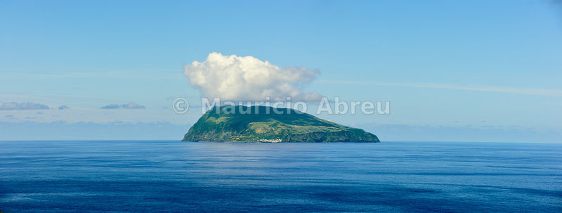 Corvo island, in the middle of the Atlantic Ocean. Azores, Portugal
