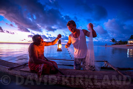 Sunset fisherman, Savaii