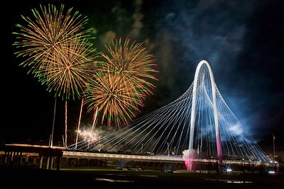 Margaret Hunt Hill Bridge Fireworks 2