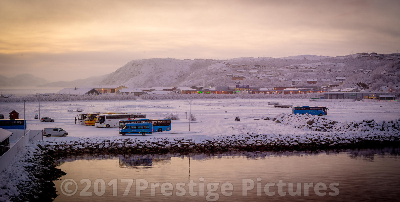 Twilight in Kirkenes in the Arctic Circle