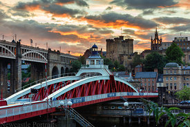 Swing Bridge Sunset