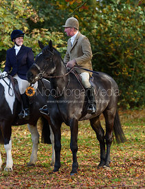 Sophie Brown, Stuart Campbell at the meet - The Cottesmore at Somerby 5/11