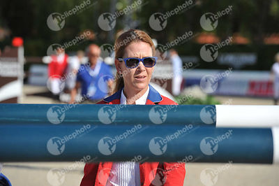 Lauren HOUGH ,(USA) during Coca-Cola Trofey competition at CSIO5* Barcelona at Real Club de Polo, Barcelona - Spain